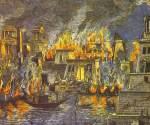 Ciencia e historia - Incendio de la Biblioteca de Alejandría